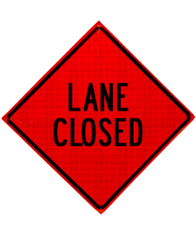 Where to find LANE CLOSED REFLECTIVE in Eureka