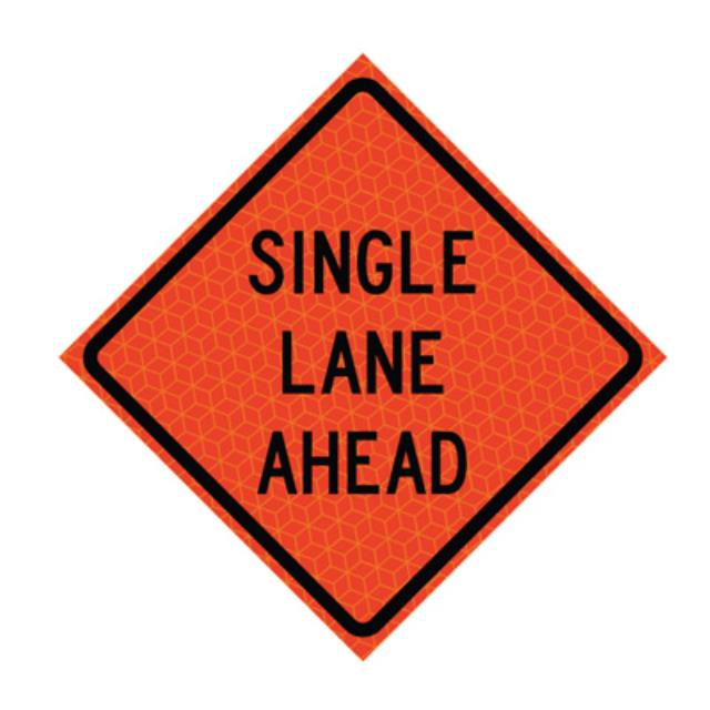 Where to find SINGLE LANE AHEAD REFLECTIVE in Eureka