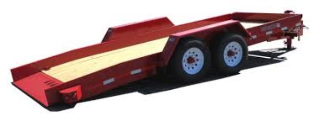 Where to find RED DBL AXLE TILT TRAILER in Eureka